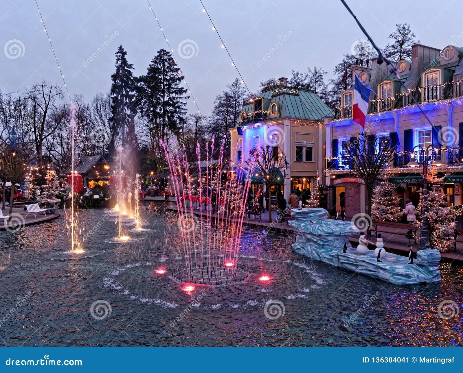christmas scenery at lake