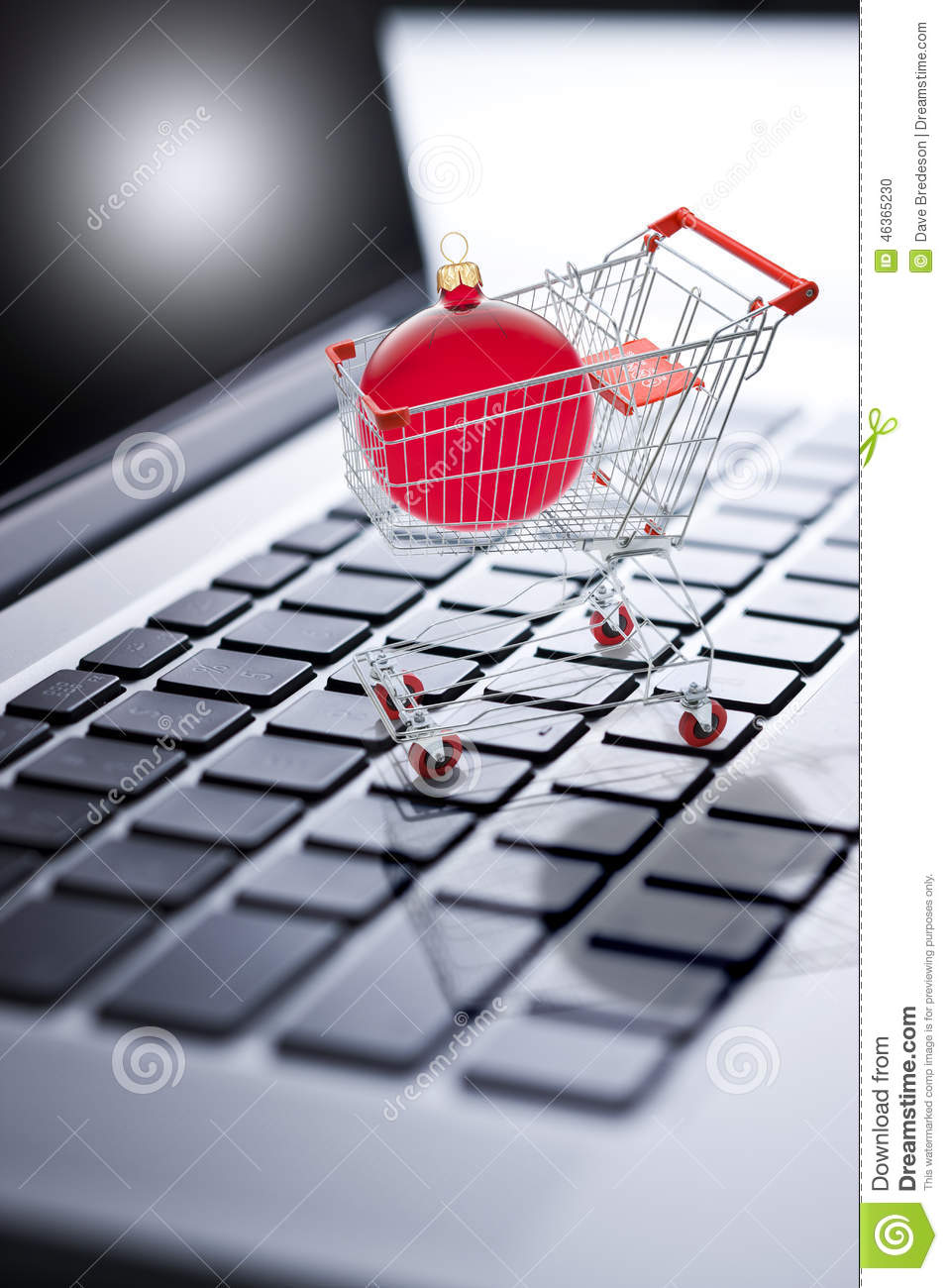 Christmas Shopping Online Computer Stock Photo Image