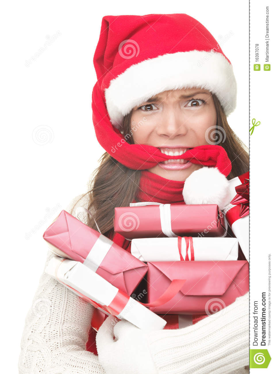 Christmas Shopping Stress Royalty Free Stock Photos