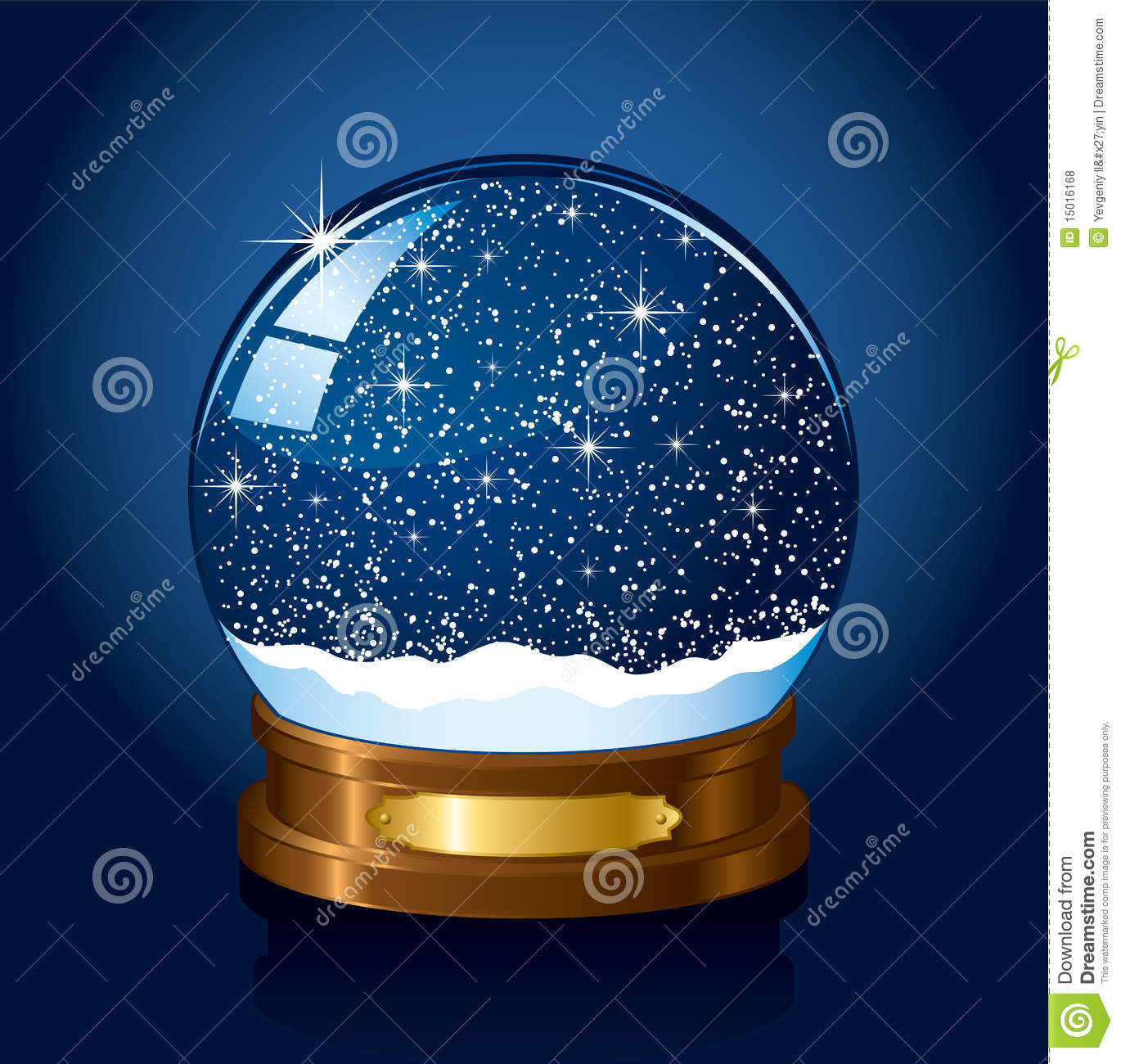 Free Download Snow Falling Animated Wallpaper Christmas Snow Globe Stock Vector Illustration Of Gold