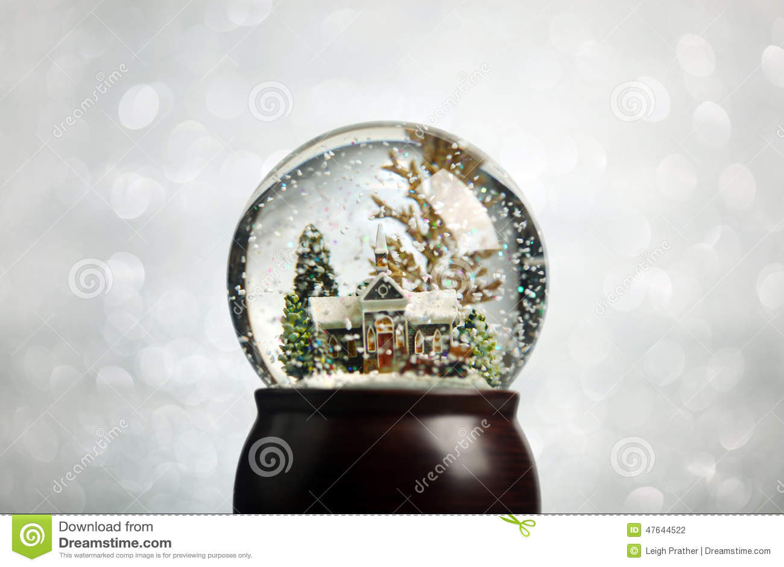 Christmas Snow Globe Stock Photo Image 47644522