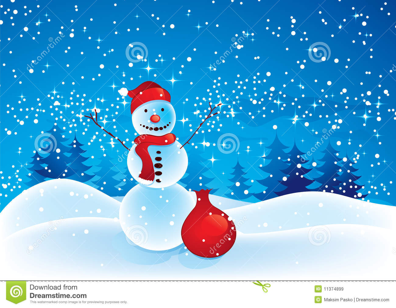 Christmas Snowman Royalty Free Stock Images Image 11374899