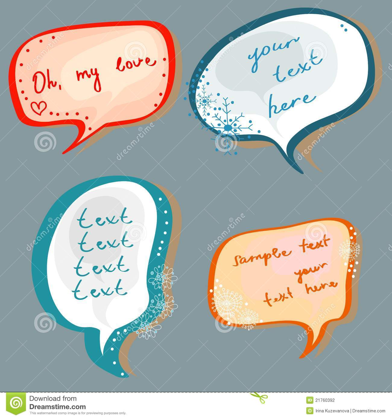 Christmas Speech Bubbles Set Stock Vector Image 21760392