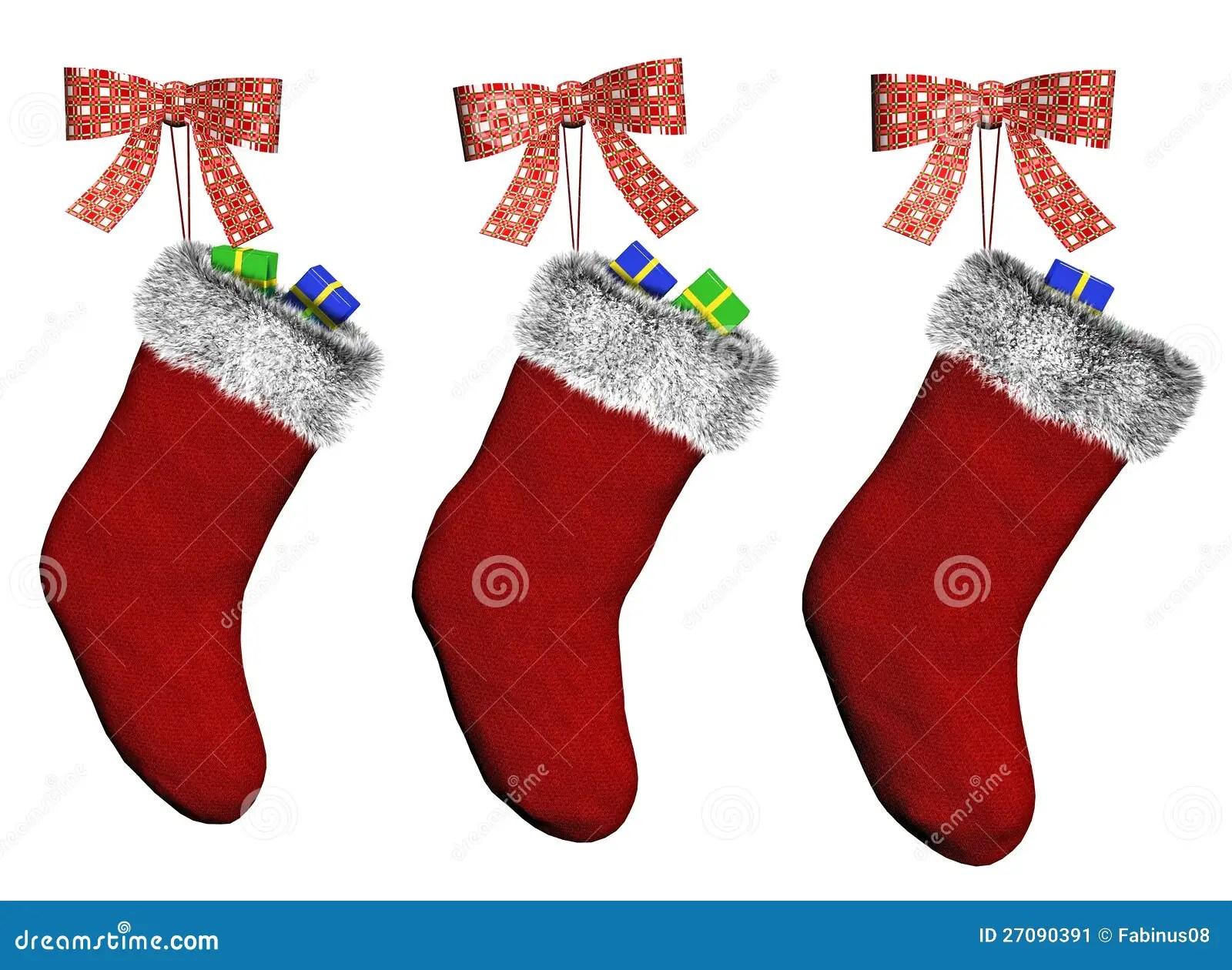 Christmas Stockings Stock Illustration Illustration Of