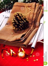Christmas Table Place Setting Royalty Free Stock Images ...