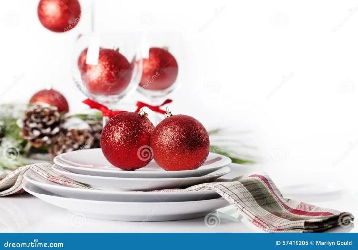 Red Christmas Table Settings
