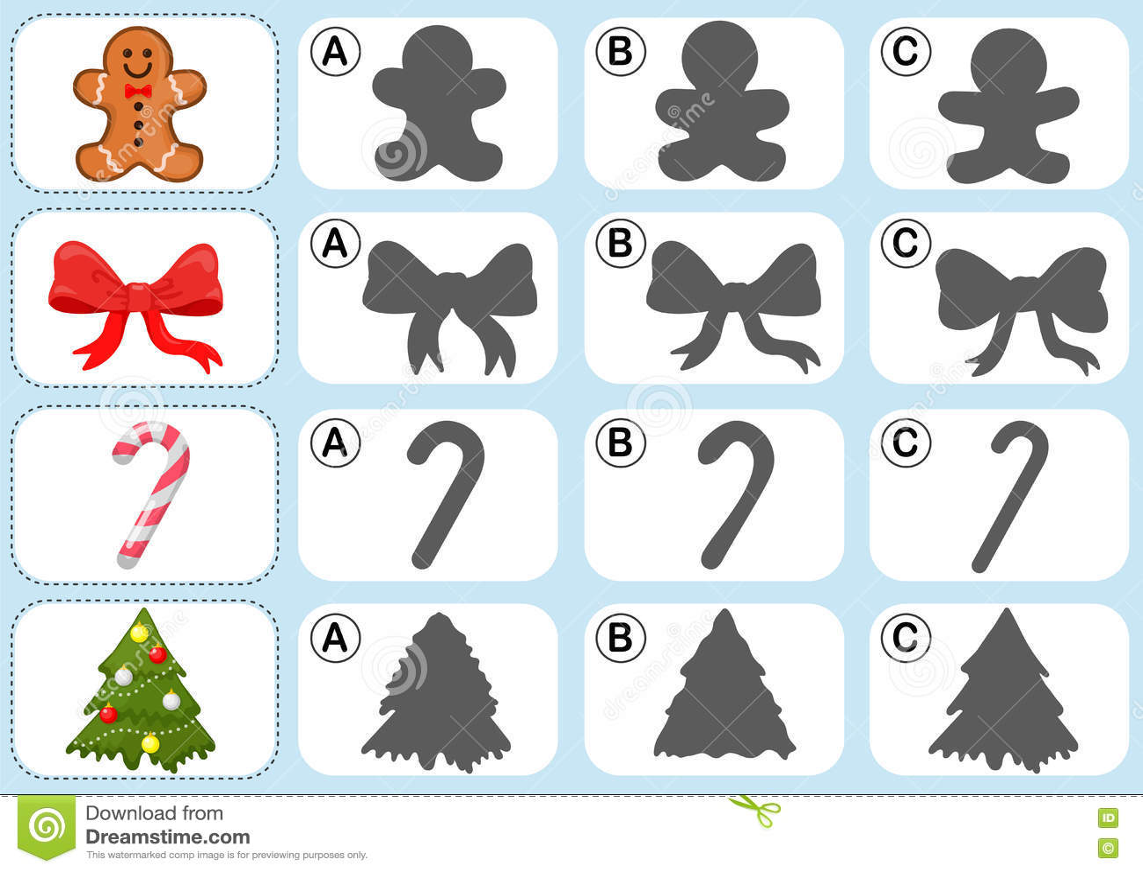 Christmas Theme Activity Sheet