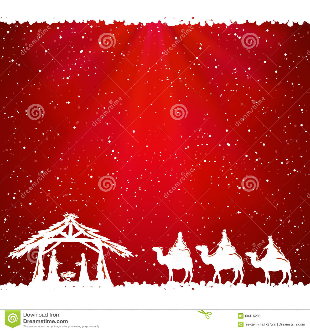 Christmas Theme On Red Background Stock Vector Image