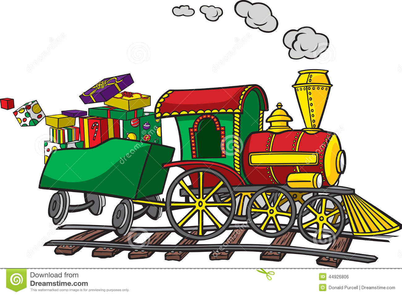 hight resolution of christmas train