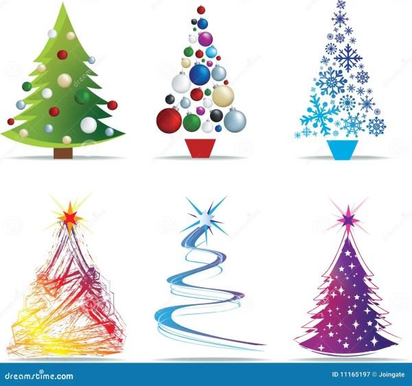 christmas tree modern illustrations