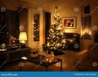 Christmas Tree In Modern Living Room Stock Photo - Image ...
