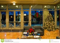 Christmas Tree In Office Lobby Stock Photography - Image ...