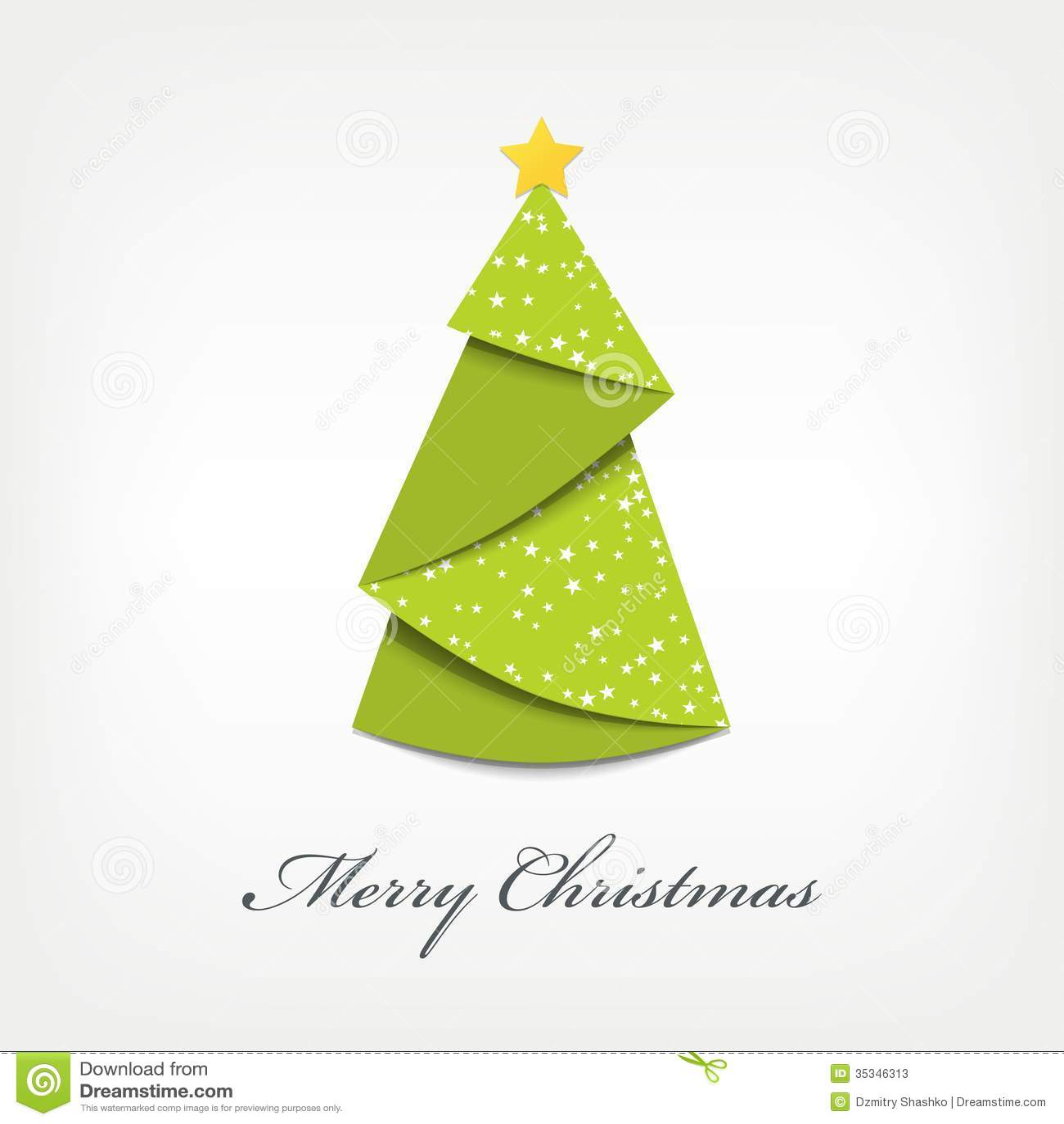 christmas origami diagram pioneer dvd radio wiring tree stock vector illustration of