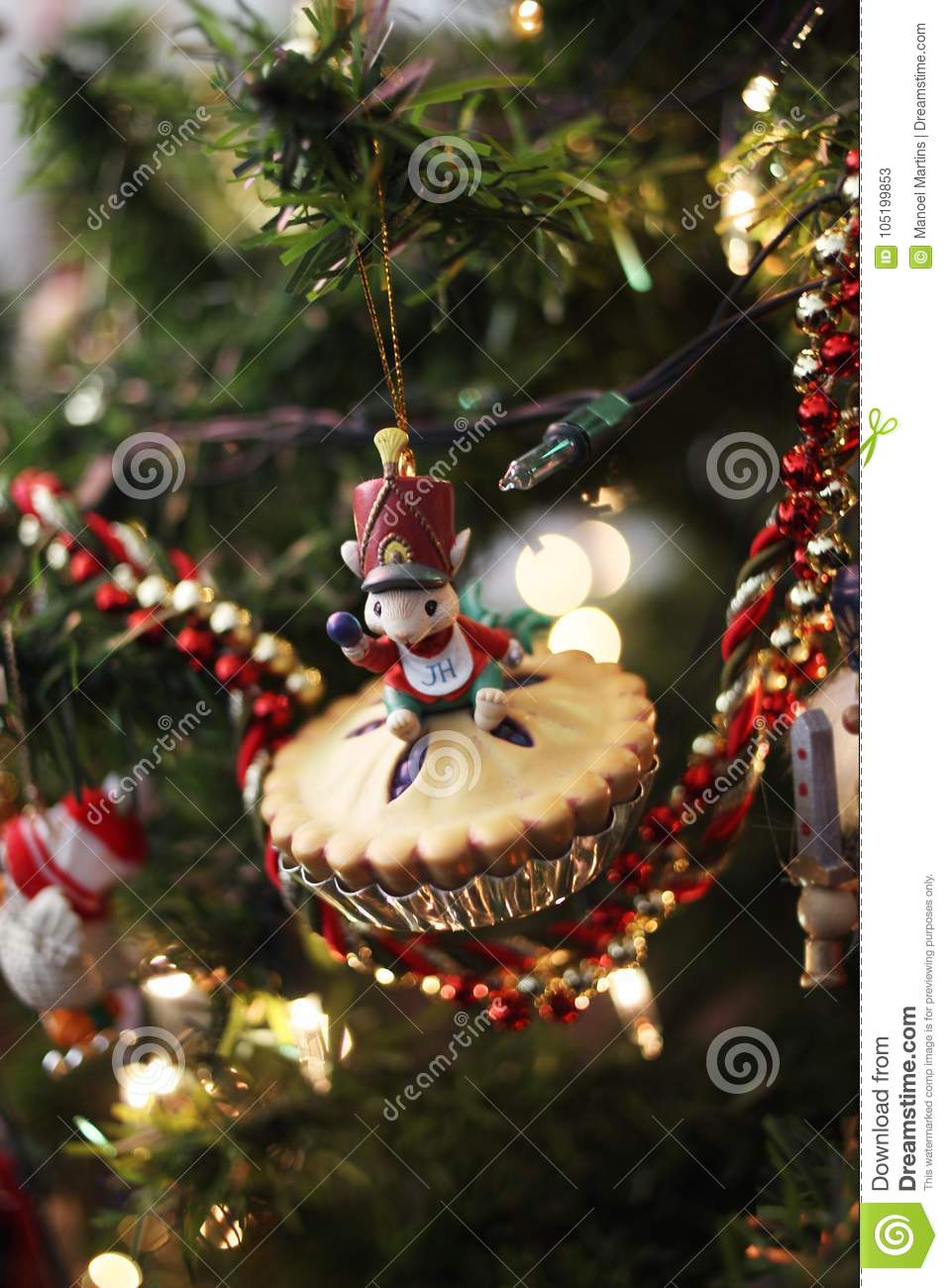 Pie Christmas Ornament