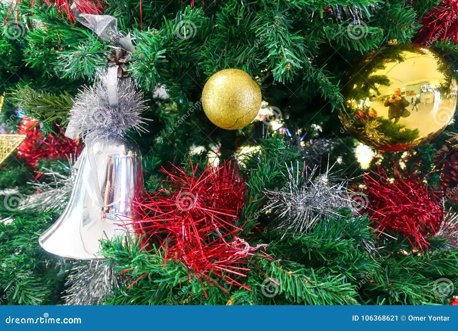 Christmas Tree And Christmas Ornaments Stock Image Image Of Decor Church 106368621