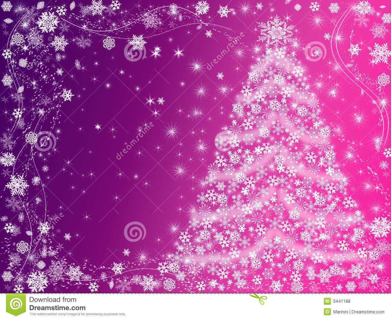 Christmas Tree Pink And Violet Stock Illustration