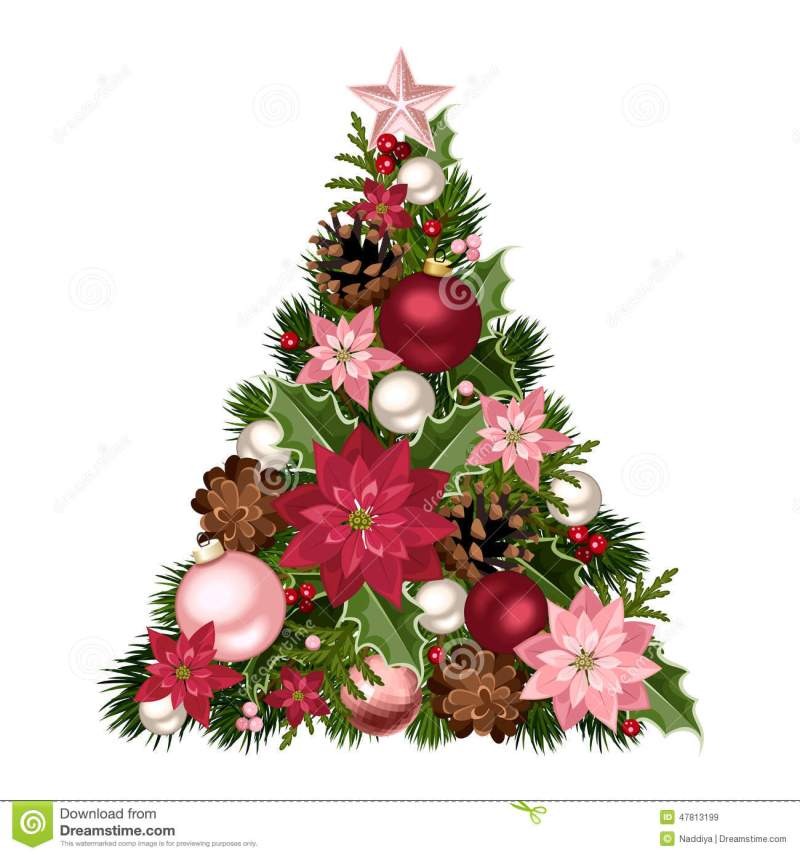 Pink Poinsettia Christmas Decorations