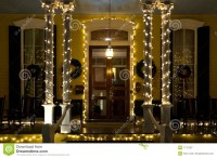 Christmas Victorian Porch Royalty Free Stock Photography ...
