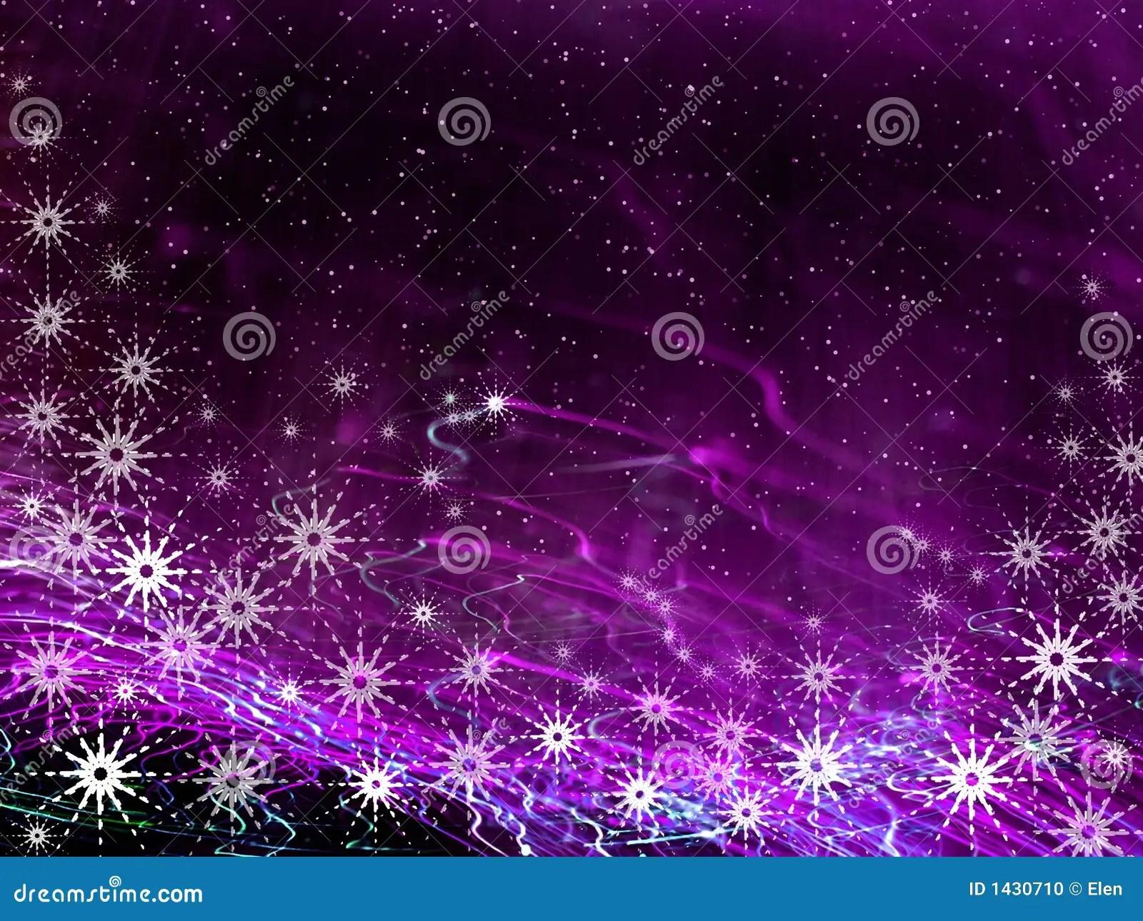 Christmas Violet Background Stock Illustration