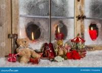 Christmas Decorations Candle In Window | Psoriasisguru.com