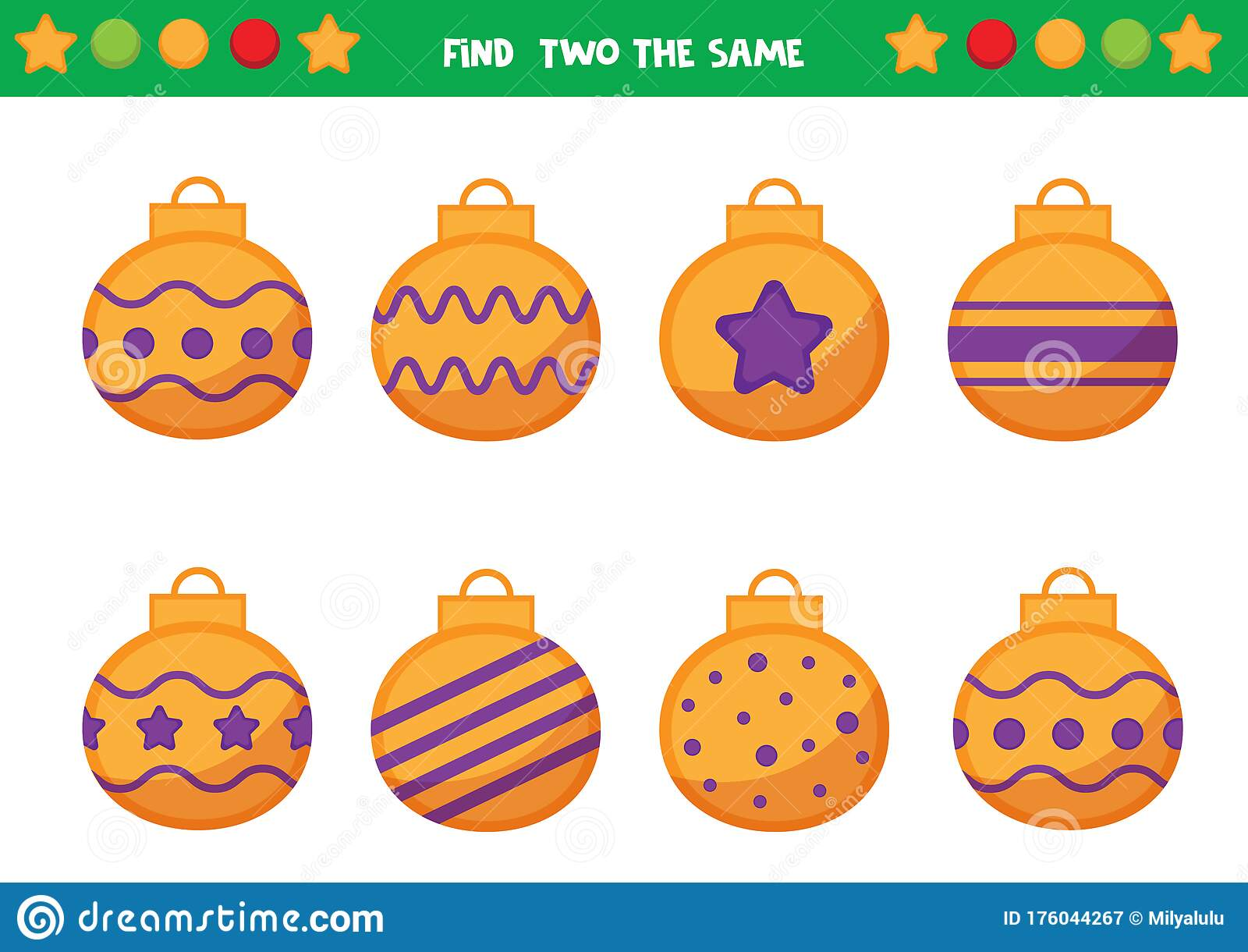 Christmas Worksheet For Preschool Children Find Two The