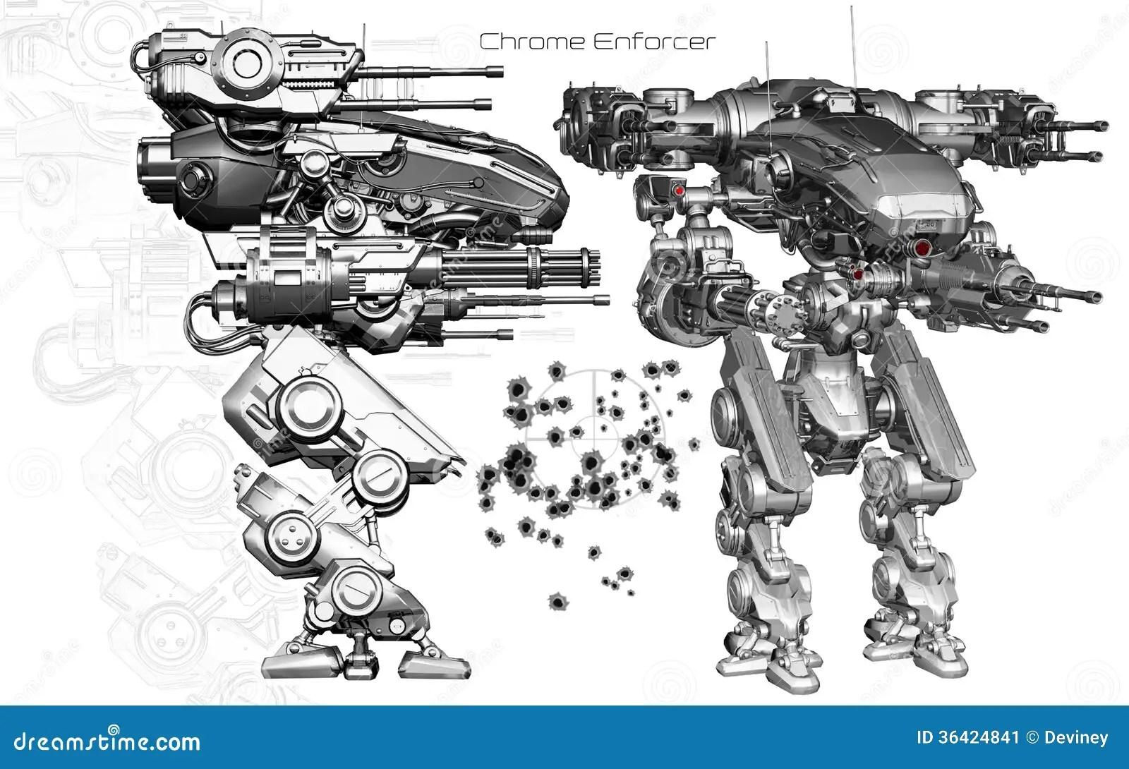 Diagram 3d Robot