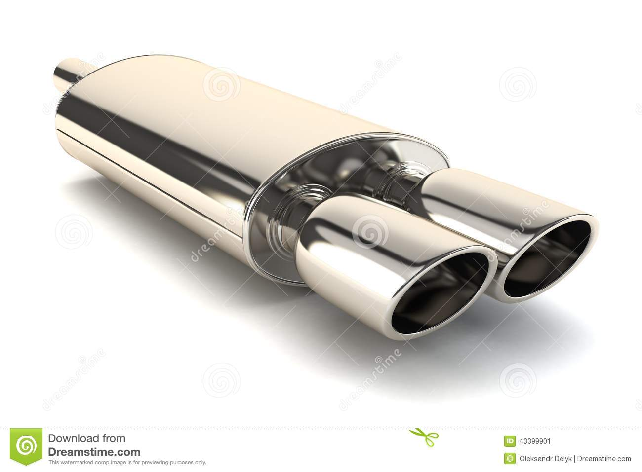 Chrome Exhaust Pipe Stock Illustration