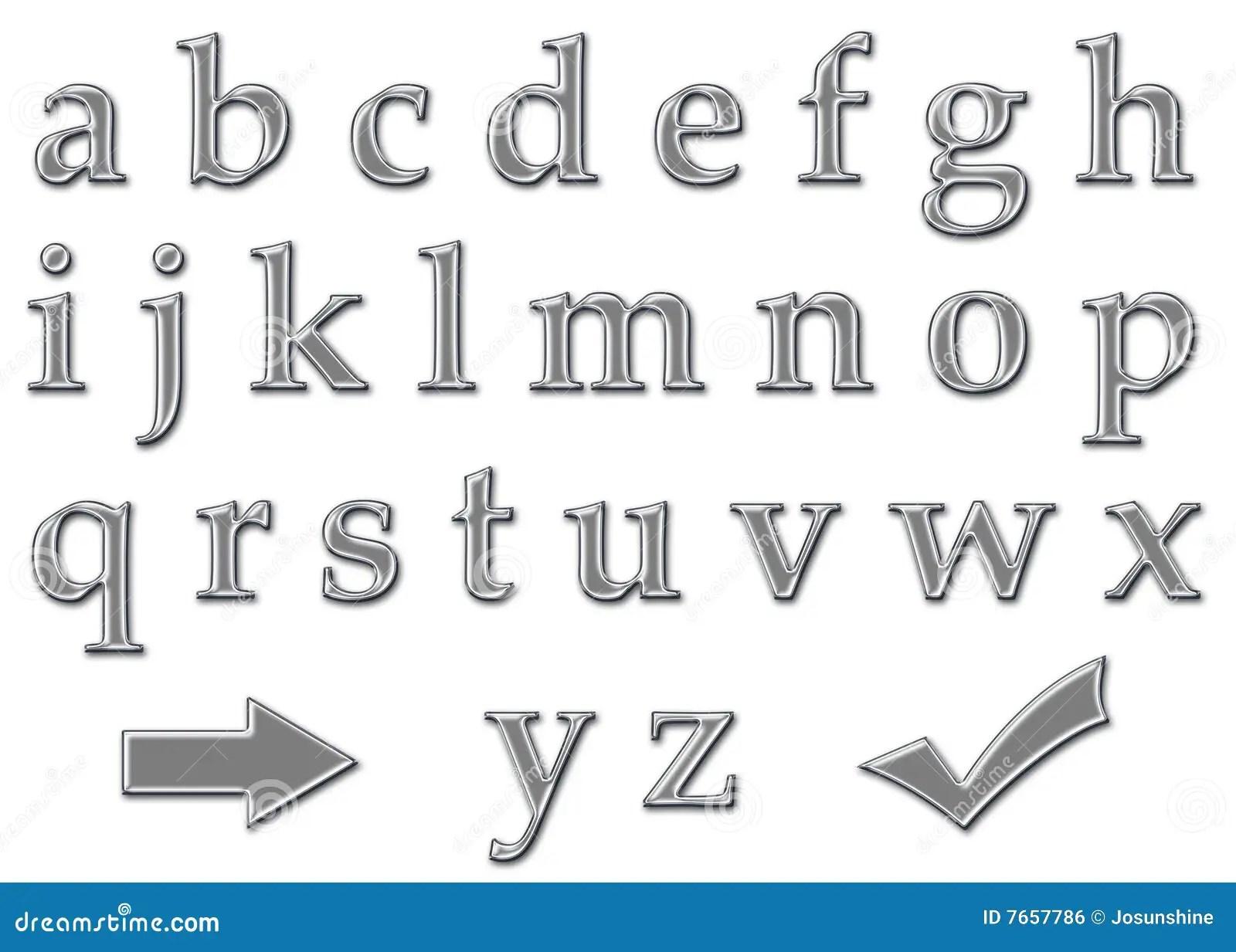 Chrome Letter Alphabet Lowercase Royalty Free Stock Image