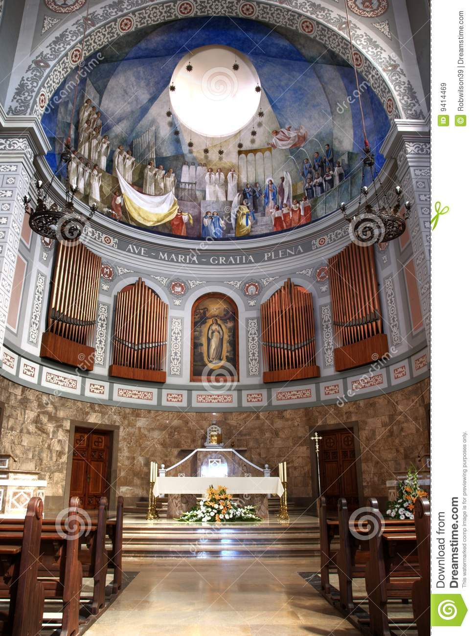 Church Alter in Europe stock image Image of decorated  9414469