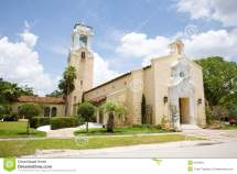 Church In Coral Gables Florida Stock - Of