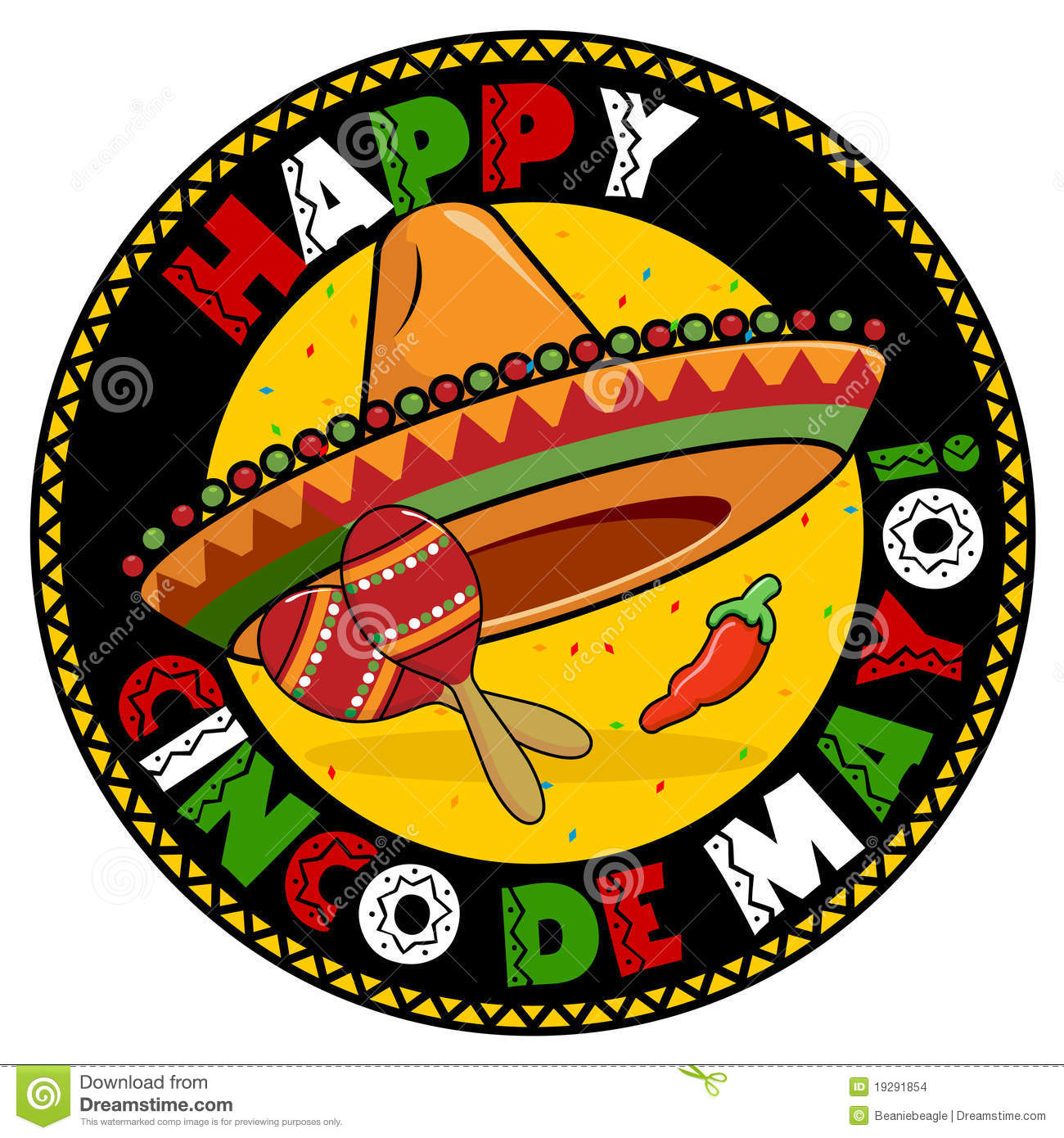 Cinco De Mayo Badge Stock Vector Image Of Battle Element