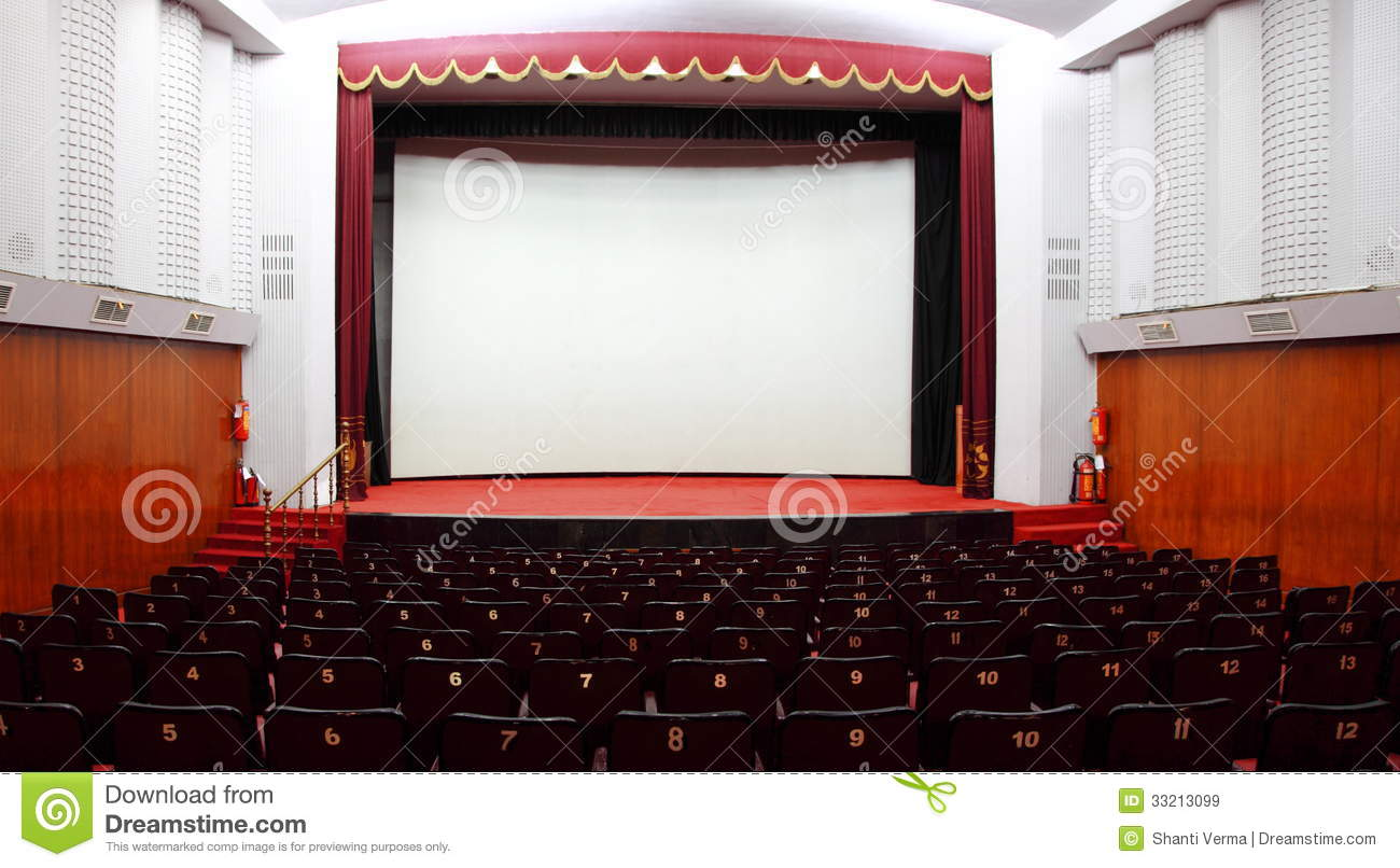 hall of a cinema stock images