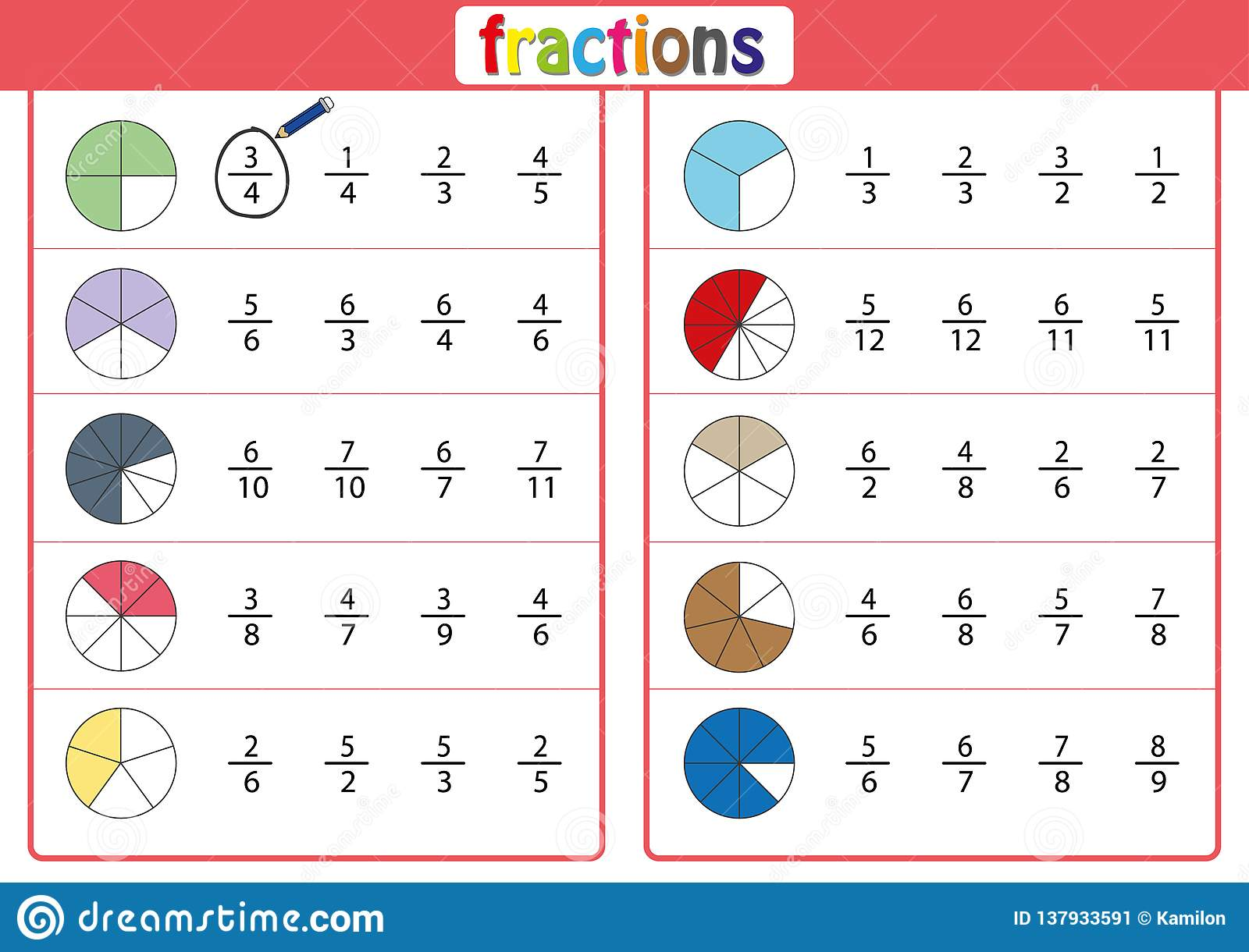Adding And Subtracting Fractions Worksheet Year 3