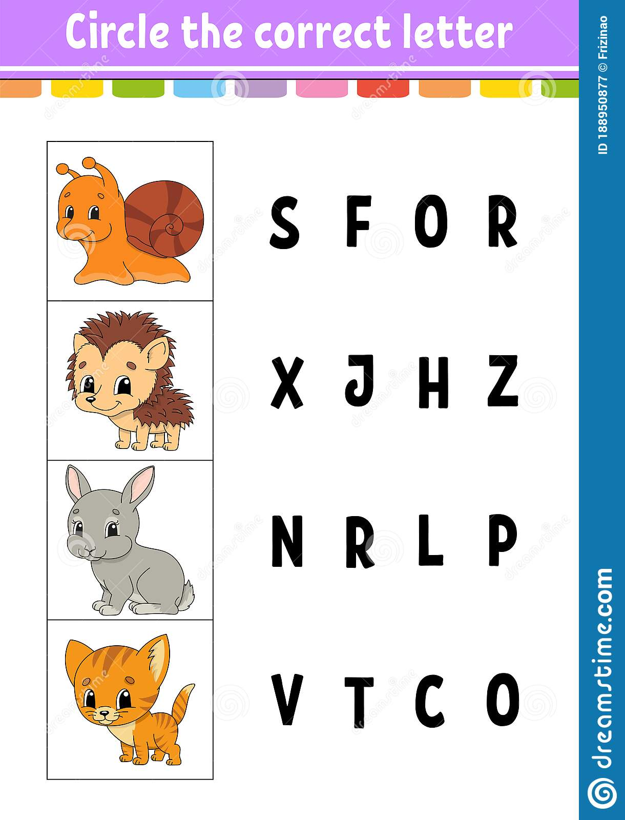 Circle The Correct Letter Education Developing Worksheet