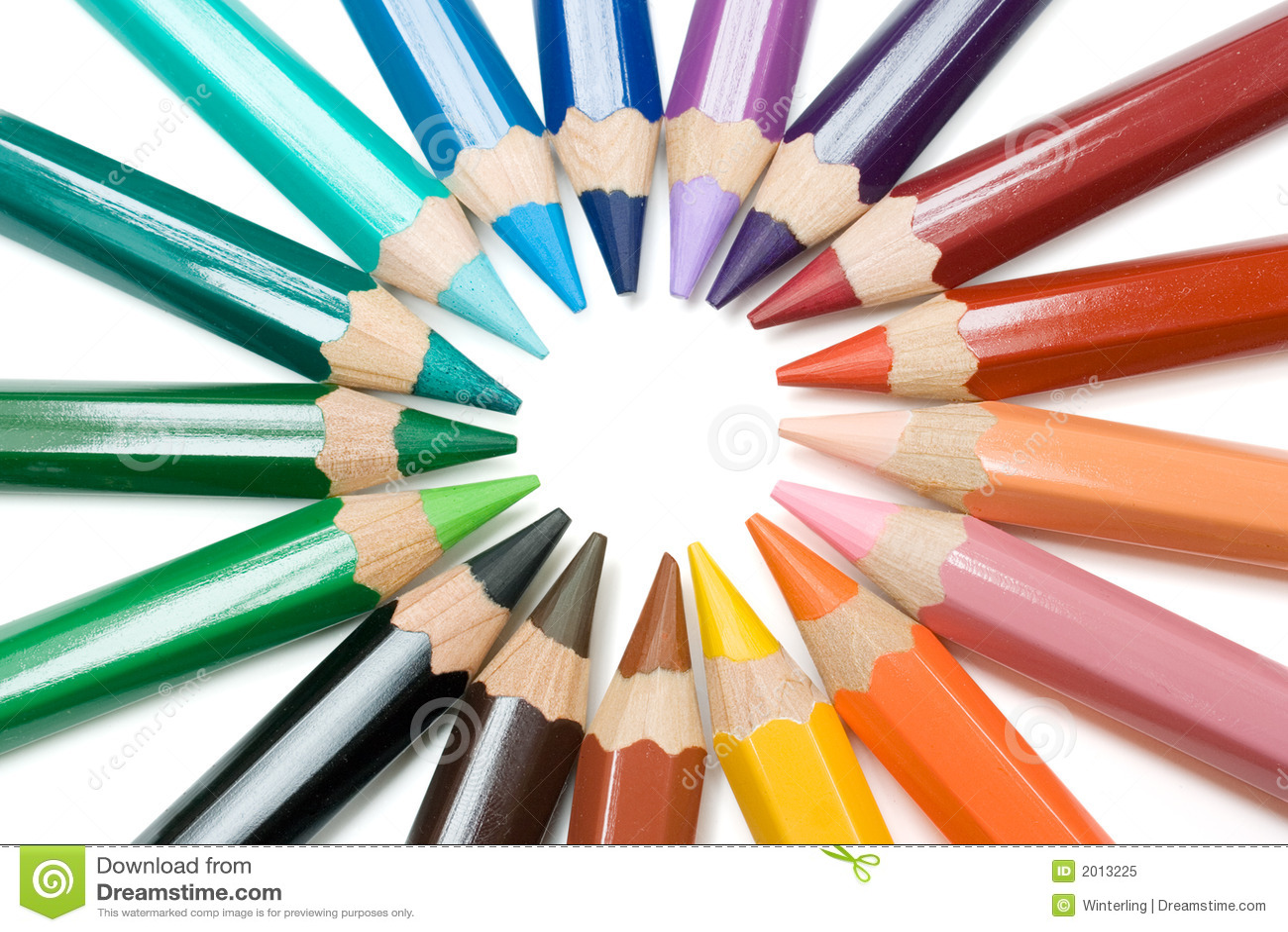 Circle Of Crayons Stock Image Image Of Crayons Coloring