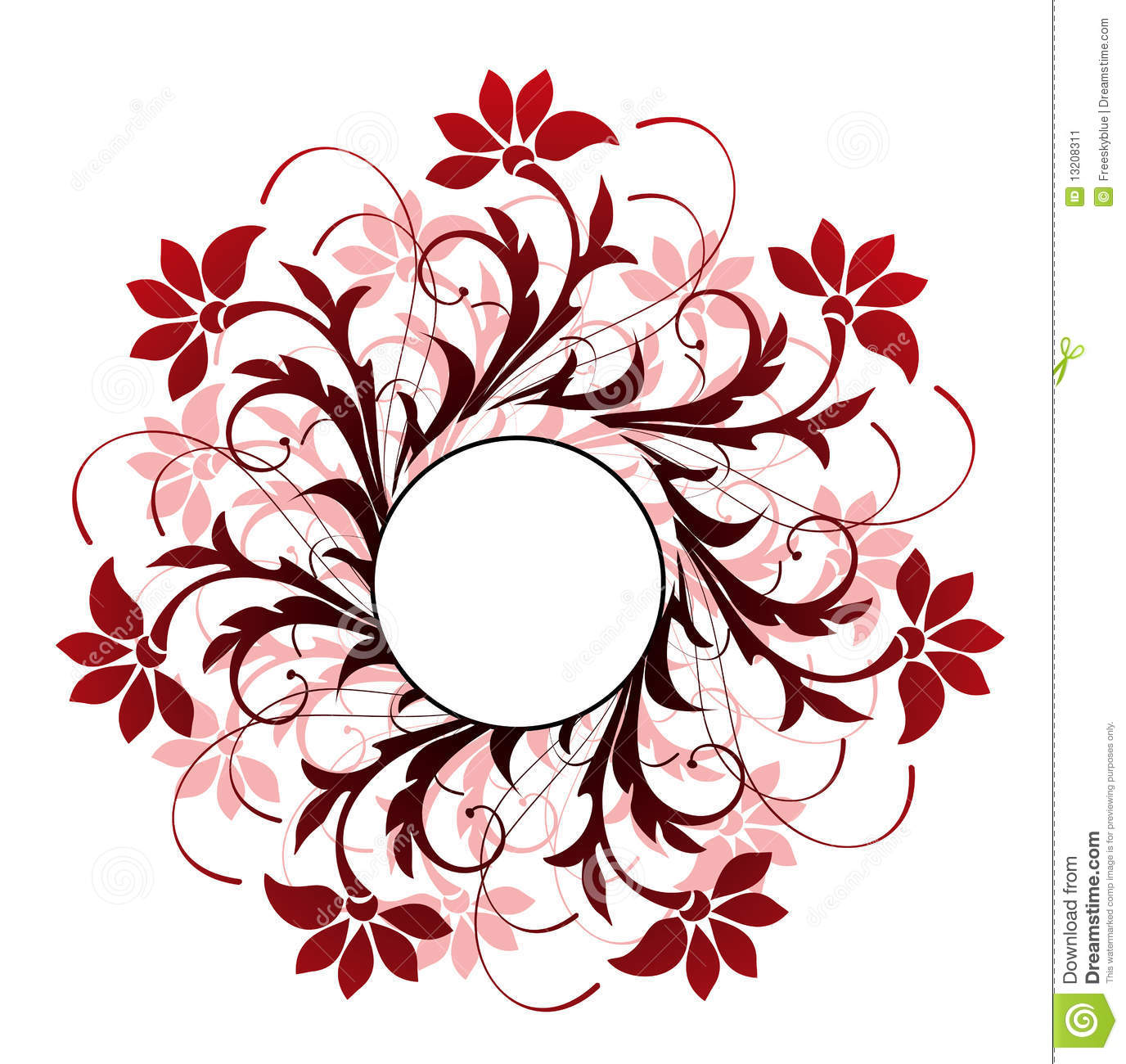 circle and flower pattern