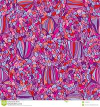 Circle Flower Violet Purple Pink Color Seamless Pattern ...