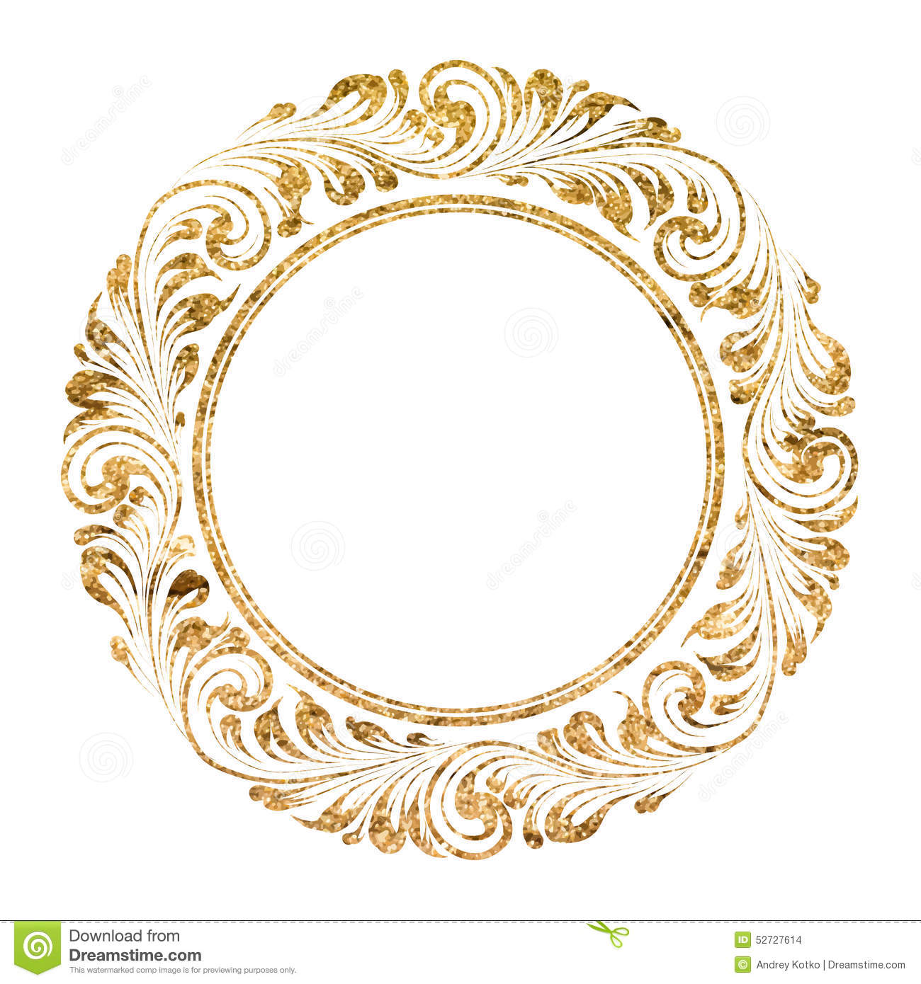 Circle Frame Stock Vector Illustration Of Gold Border