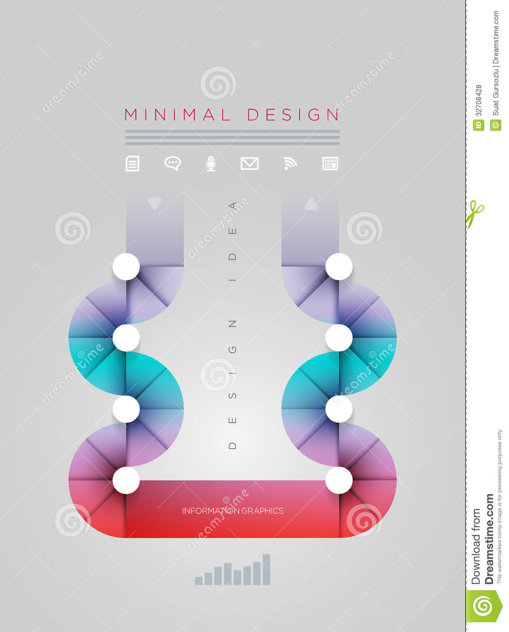 Circle Shape Infographic Design Template Stock Vector