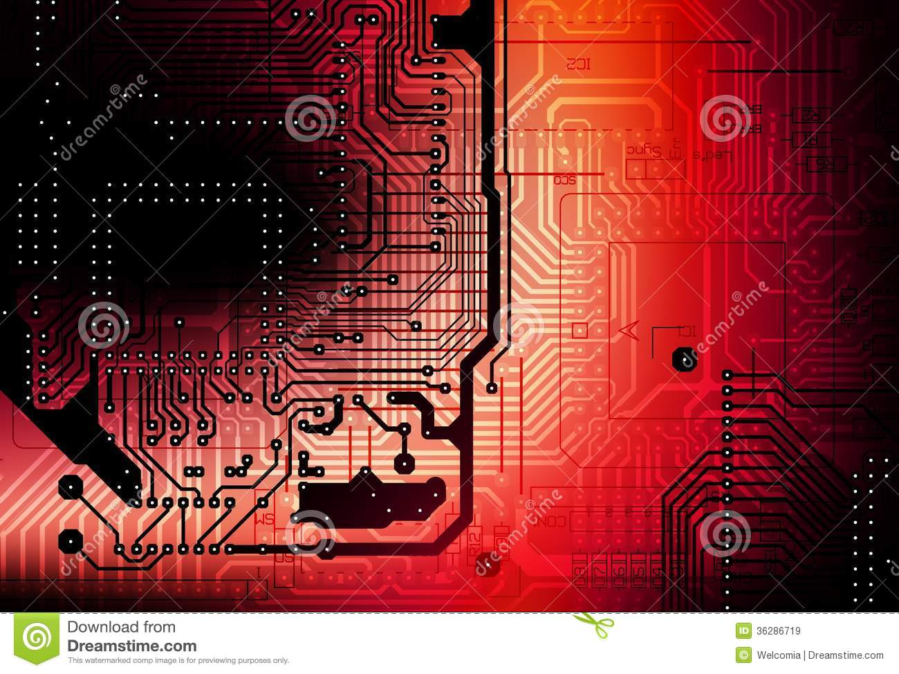 Circuit Board Backdrop Royalty Free Stock Images