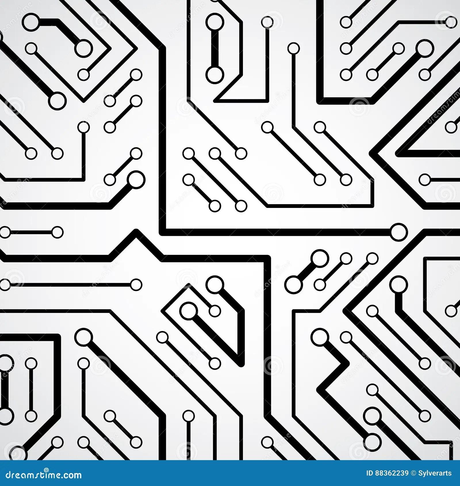 Circuit Board Futuristic Cybernetic Texture, Information