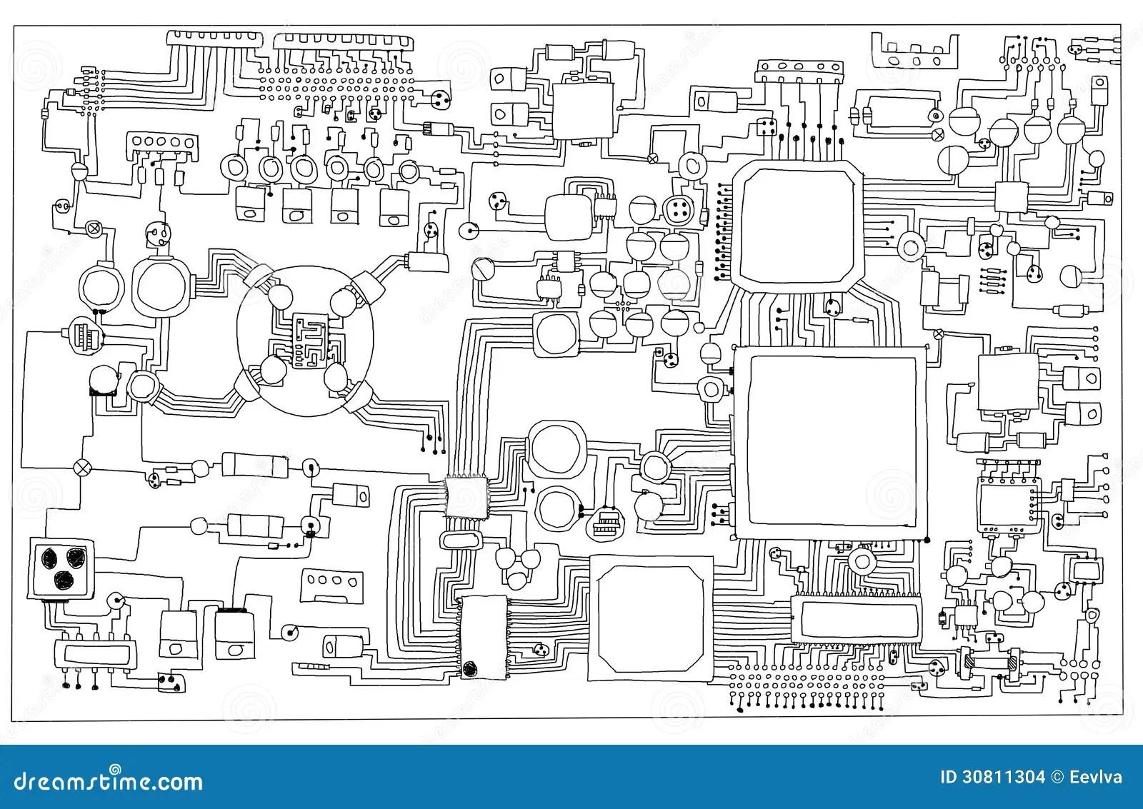 Circuit board. stock illustration. Illustration of