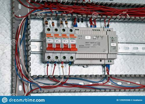 small resolution of circuit breakers power supply with adjustment in the electrical cabinet