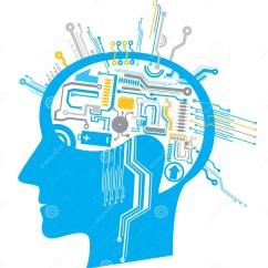 Brain Wiring Diagram Avital Remote Start And Schematics Circuito Del Cervello Immagine Stock 11129831