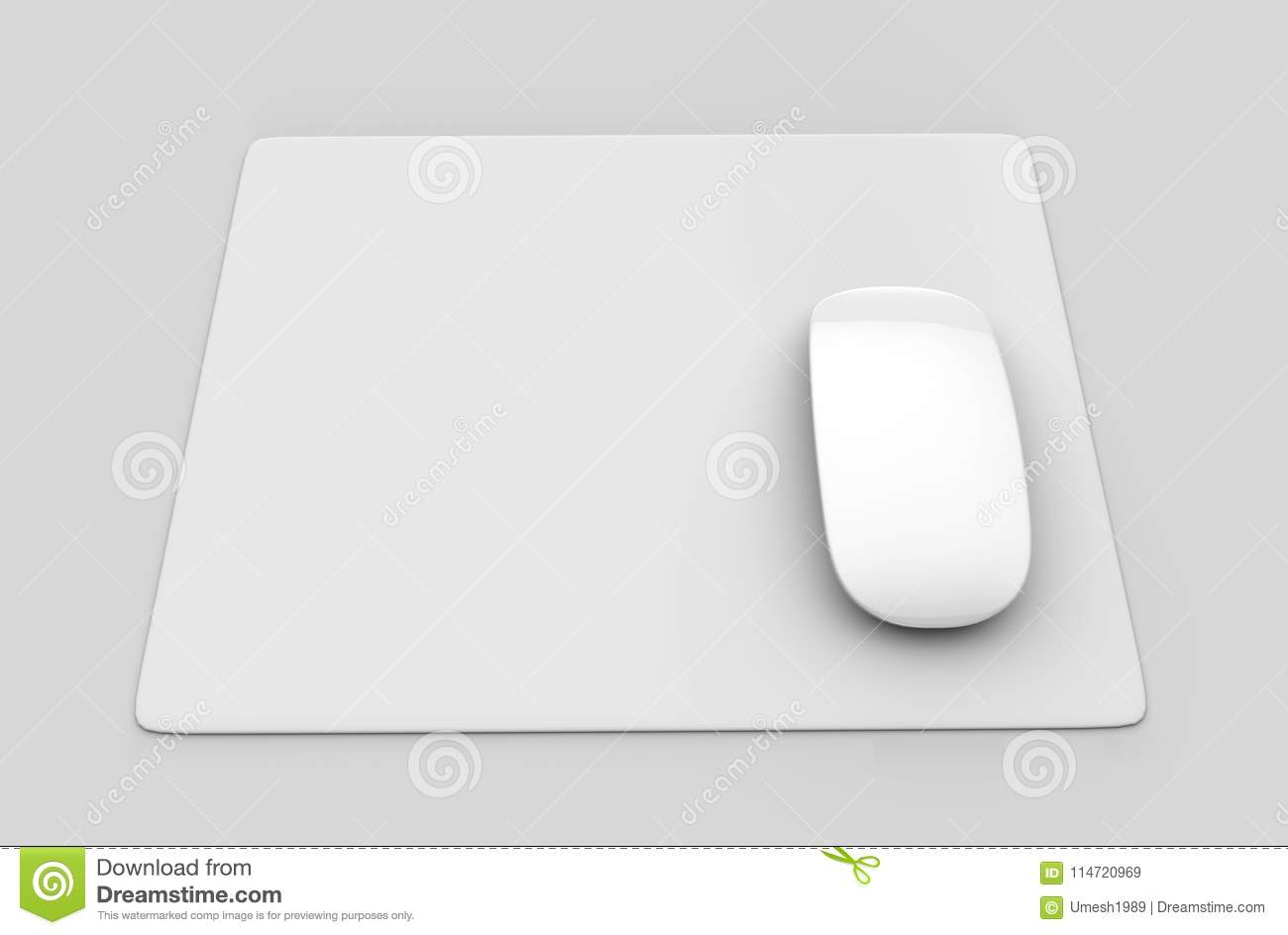 Circular Blank Mouse Pad With Computer Mouse For Branding