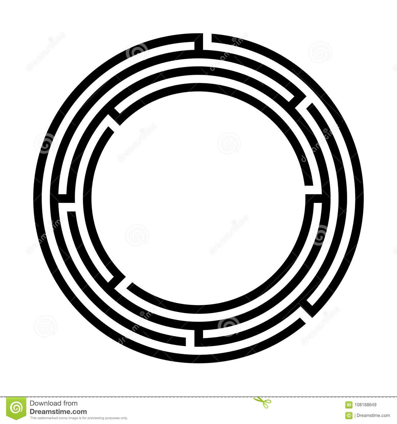Circular Maze Stock Photography