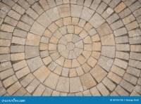 Circular Paving Stone Pattern Stock Photo - Image: 50155138