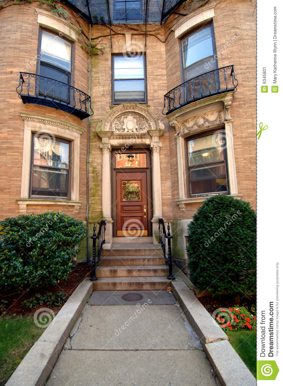 City apartment entrance stock image Image of house front