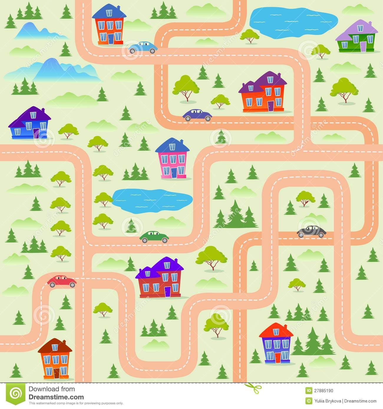 City Map Stock Vector Image Of House Vector Humor
