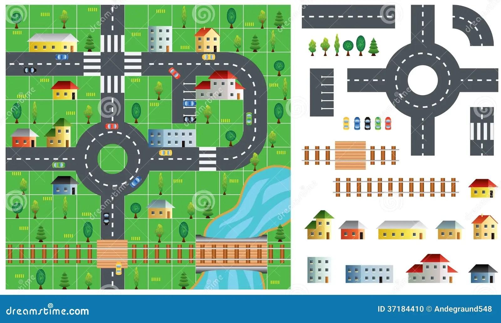 City Map Toolkit Vector Illustration Stock Photo